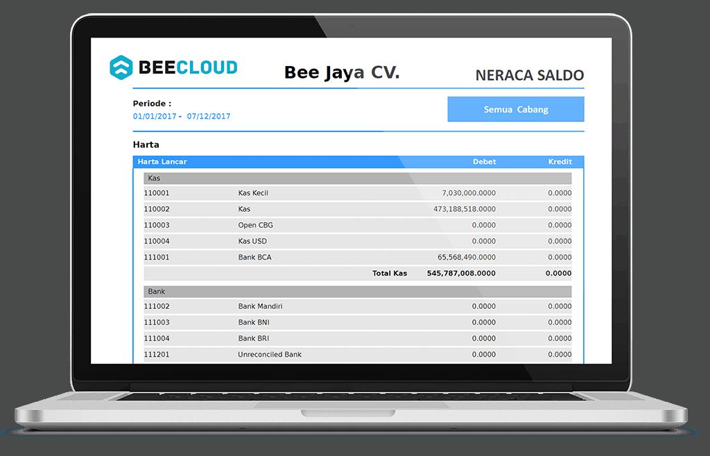 Software Akuntansi Online Tampilan Laporan Neraca