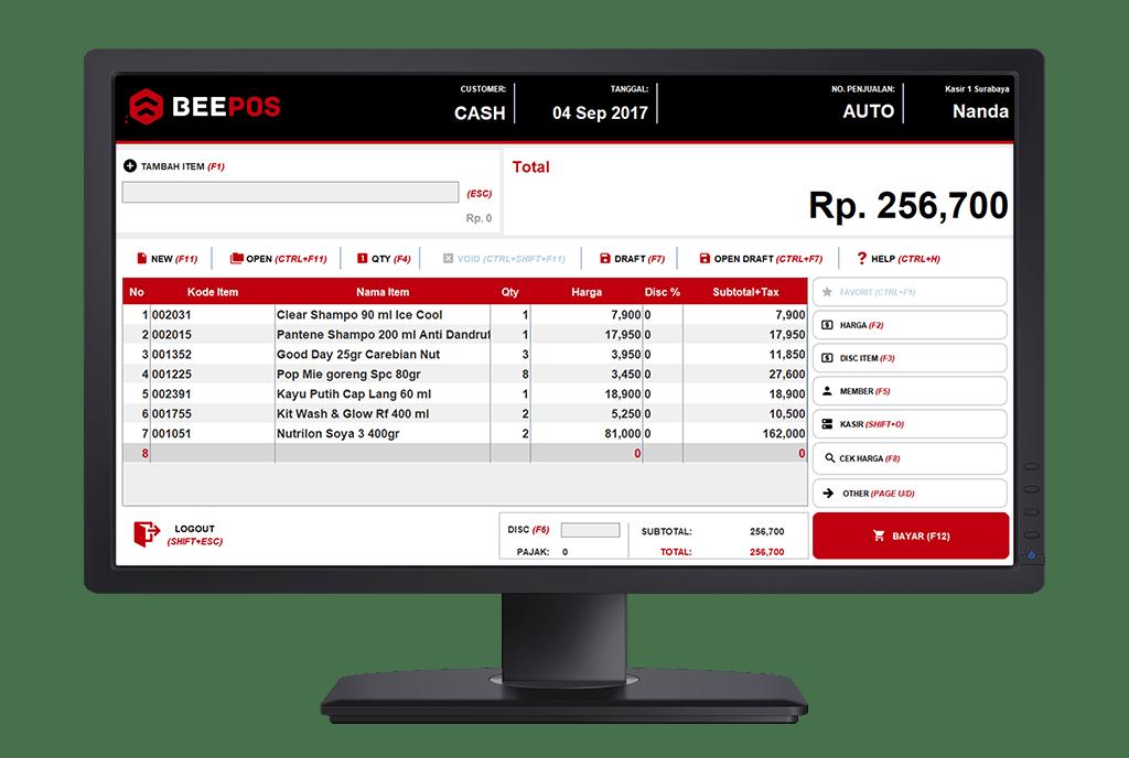 Software Kasir Beepos Desktop Tampilan Kasir