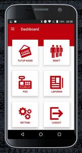 Software Kasir Beepos Mobile Portrait Tampilan Menu Utama