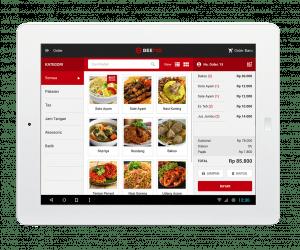 Software Kasir Beepos Mobile Tampilan Menu