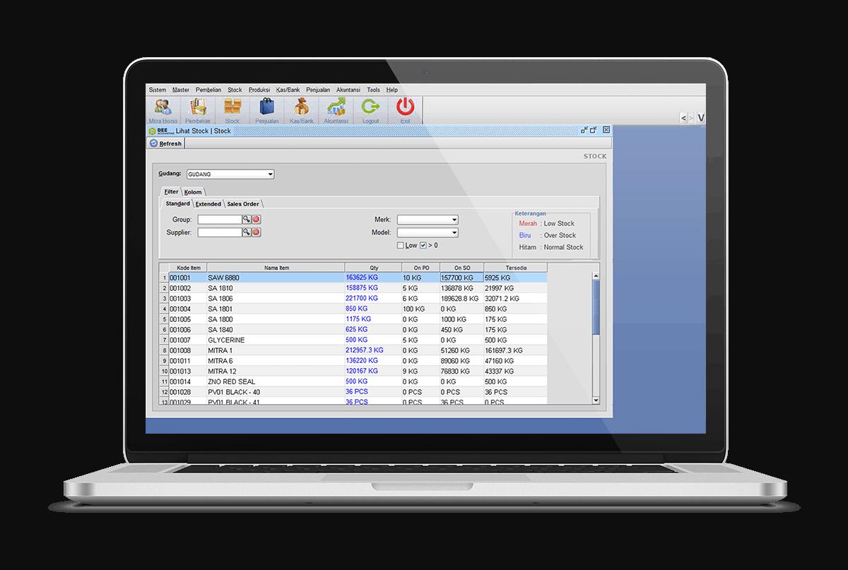 Software Akuntansi Lihat Saldo Stok Terkini