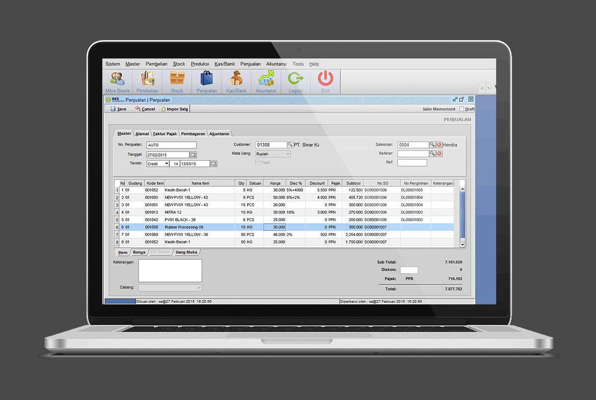 Software Akuntansi Penjualan Invoice Nota