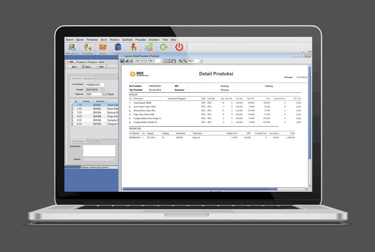 Software Akuntansi Produksi Bahan Baku