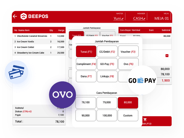 Gambar Software Restoran Cafe Pembayaran Multi OVO Gopay