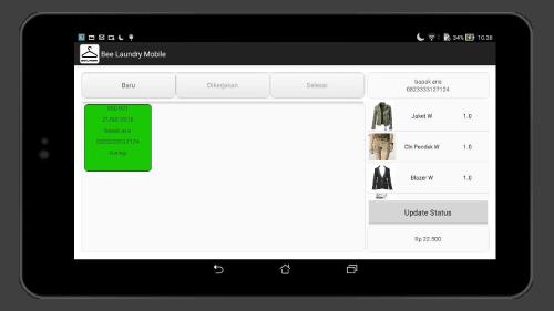 Detail Status Laundry Mesin Kasir Laundry di Android Screenshot