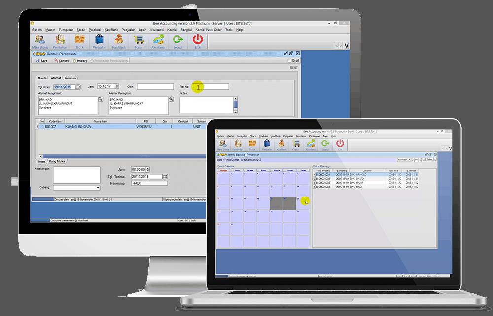 Tampilan Screenshot Software Rental PC Laptop