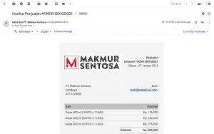 Invoice Terkirim ke Email - Email Invoice