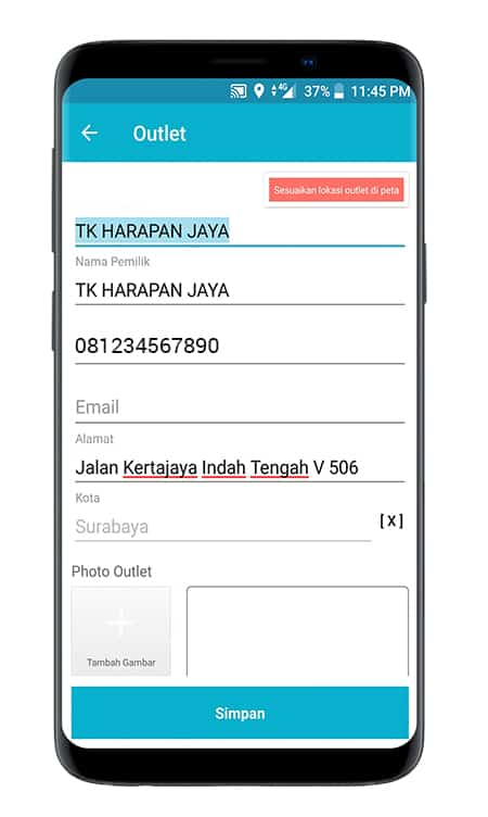 Screenshot SO Mobile Input Outlet