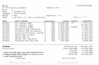 6. Invoice Penjualan Dot Metric
