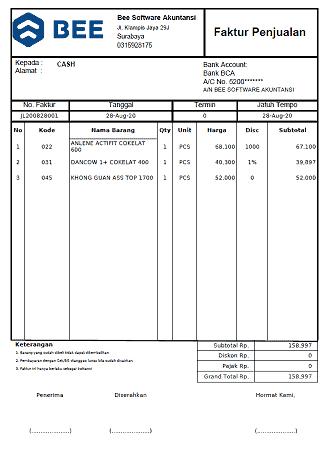 8. Invoice Penjualan A5