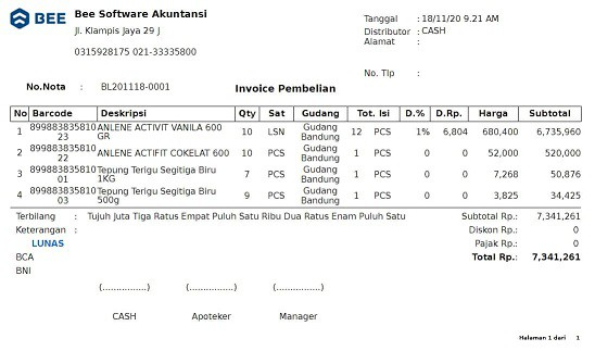 10. Invoice Pembelian A5