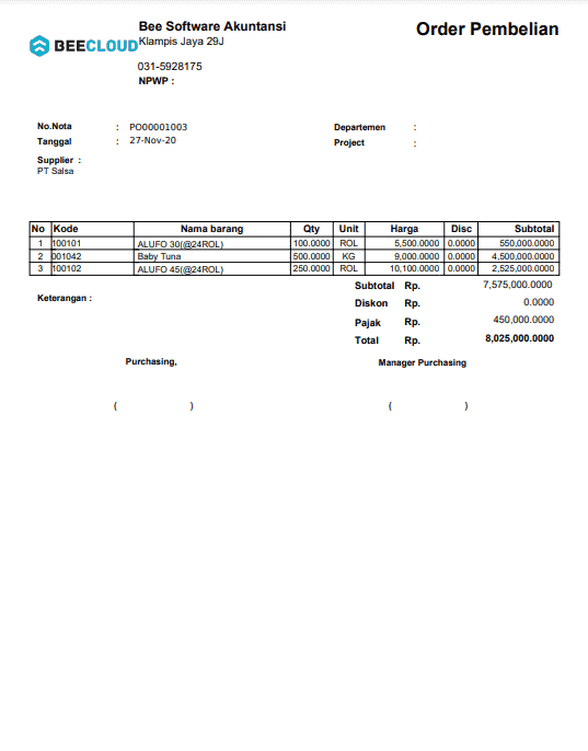 11. Invoice Order Pembelian A4